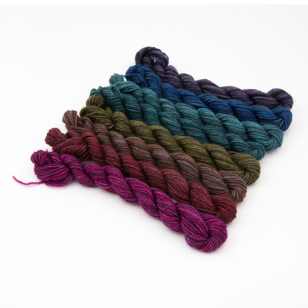 coal pride rainbow mini-skein-britsock-blue-faced-leicester-wensleydale-alp
