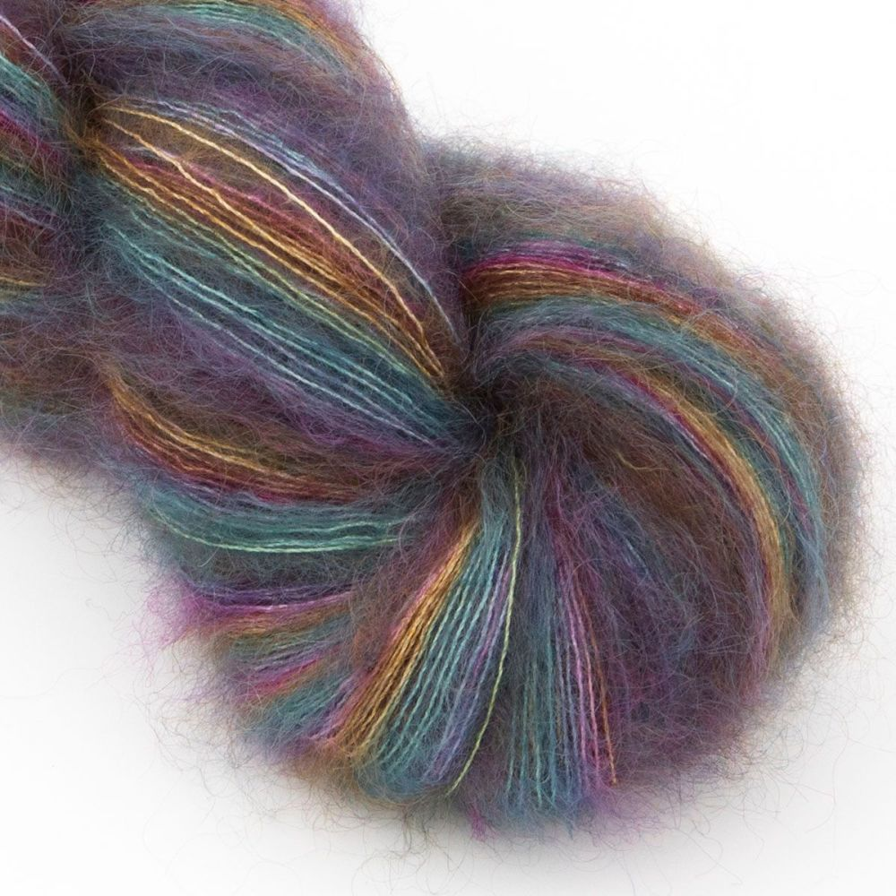 moonbroch Faded Rainbow kid mohair silk haze hand dyed yarn indie uk yorksh