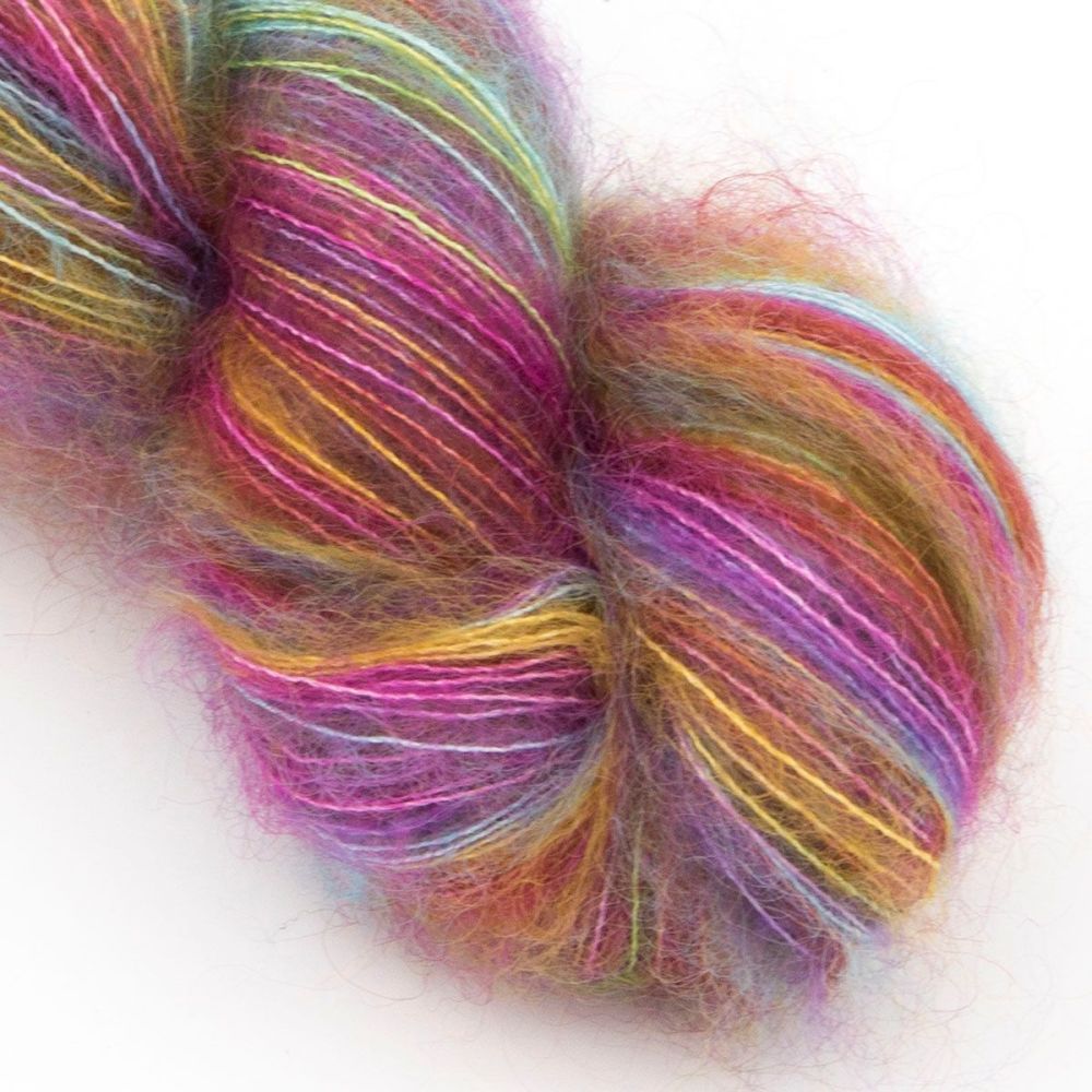 moonbroch ultimate rainbow kid mohair silk haze hand dyed yarn indie uk yor