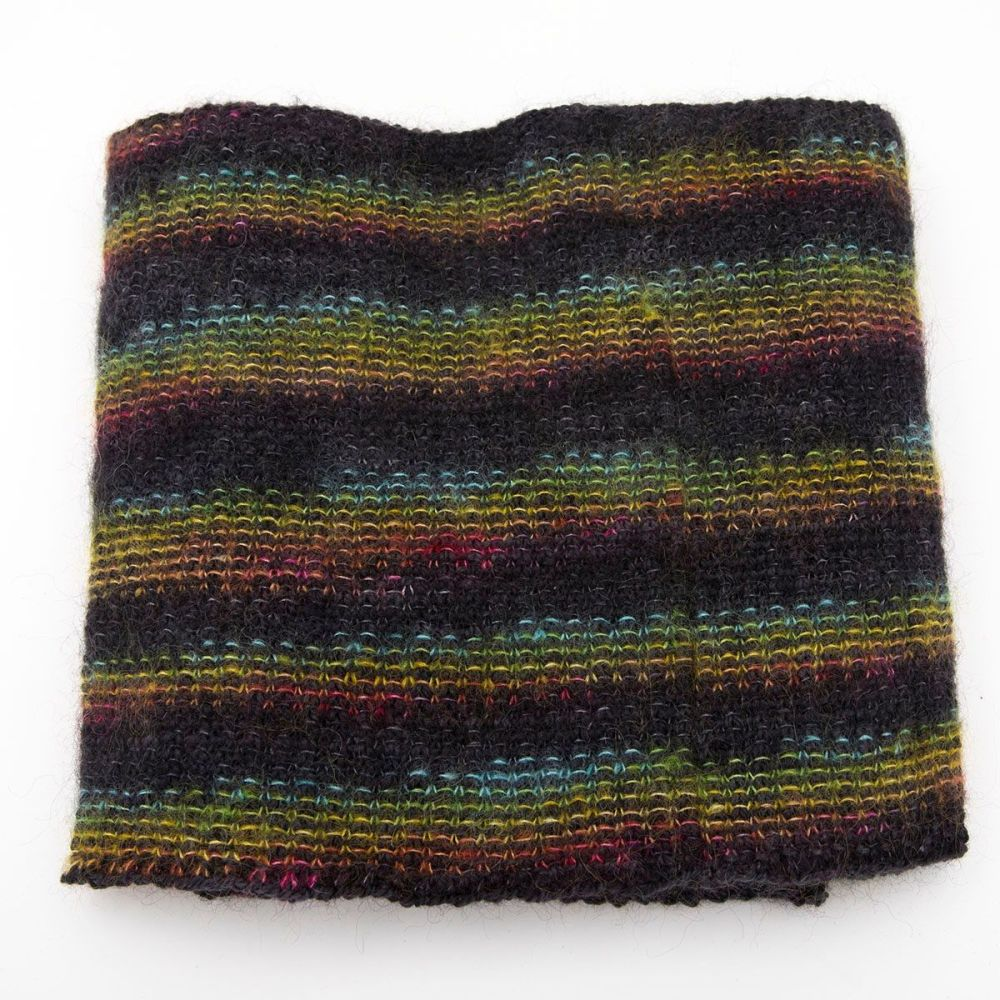 moonbroch Rainbow kid mohair silk linen stitch knitted cowl 4