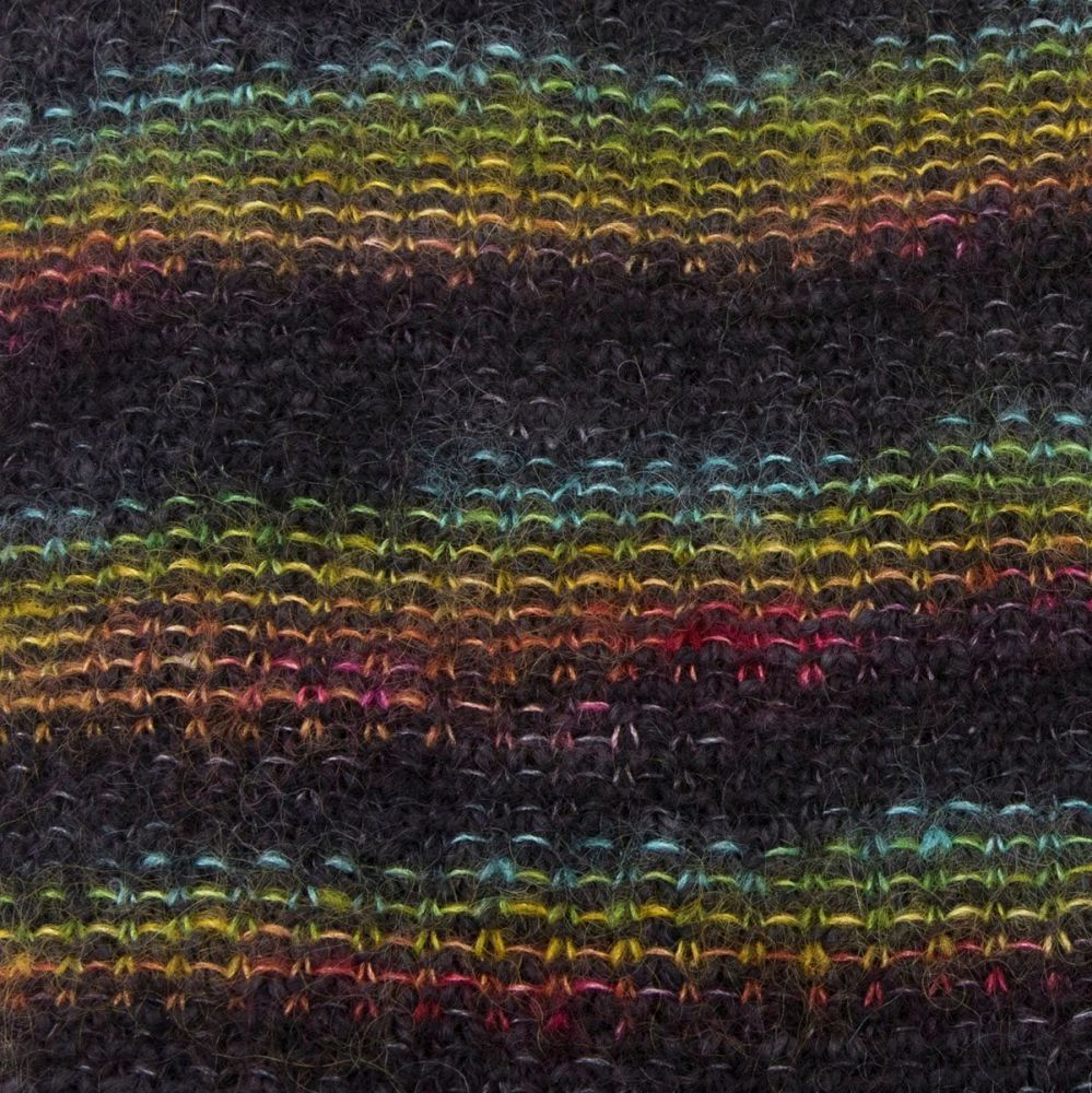 moonbroch Rainbow kid mohair silk linen stitch knitted cowl 5