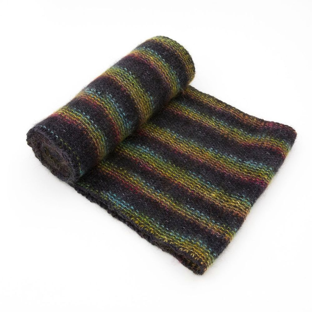 moonbroch Rainbow kid mohair silk linen stitch knitted cowl 6