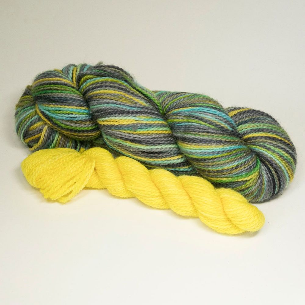 bfl nylon sock heels and toes misty neons and yellow