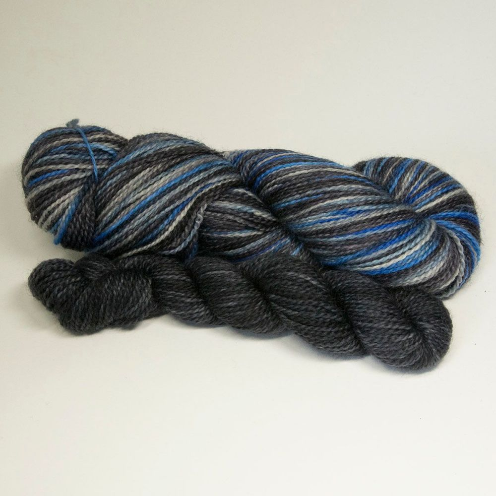 bfl nylon sock heels and toes stormy sky and coal