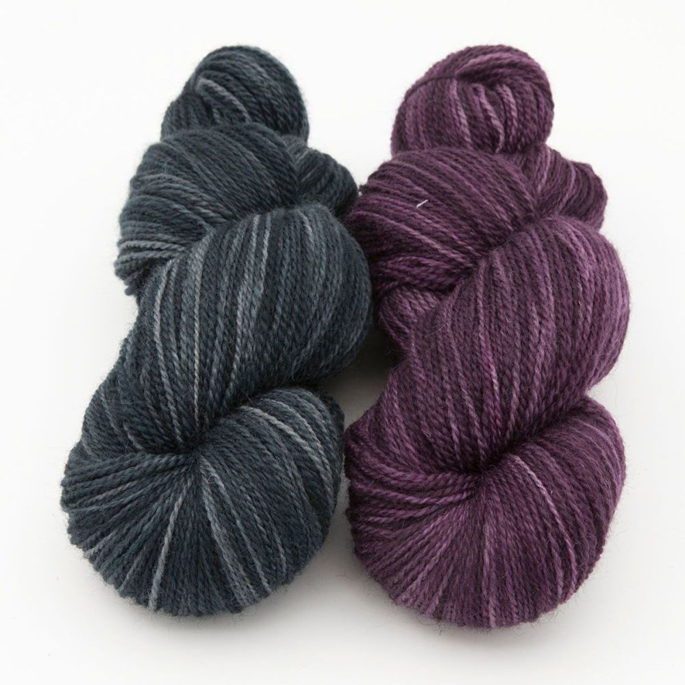 duo shaded green raspberry blue faced leicester masham yarn British indie d