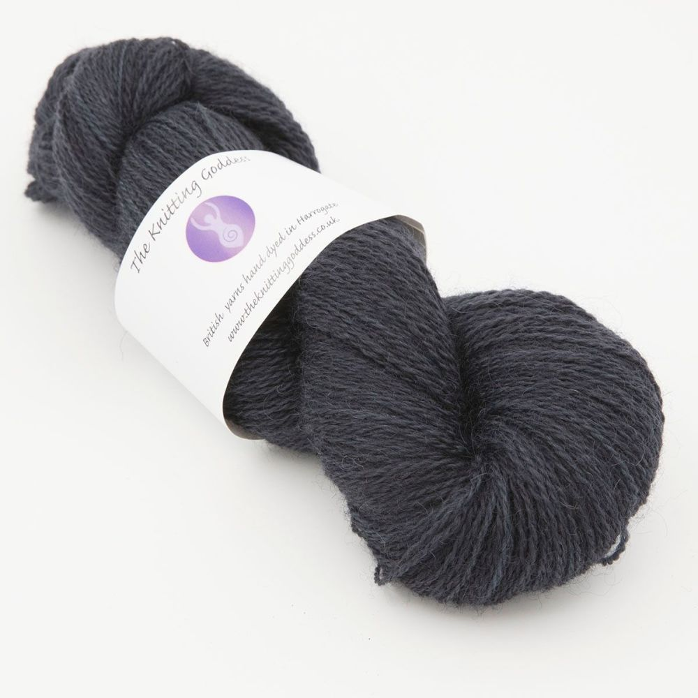 superhero genes darkest days blue one farm yarn 4ply hand dyed british woo