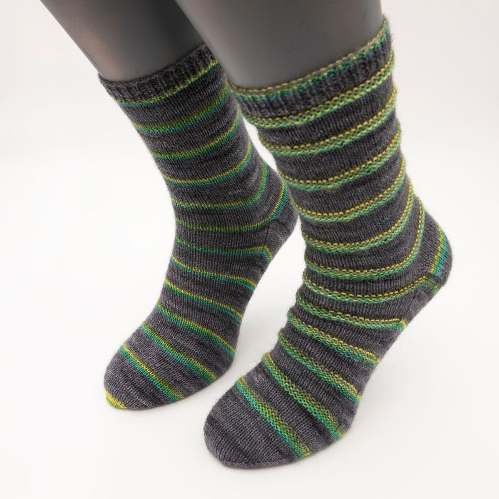 self stripe sock image 3