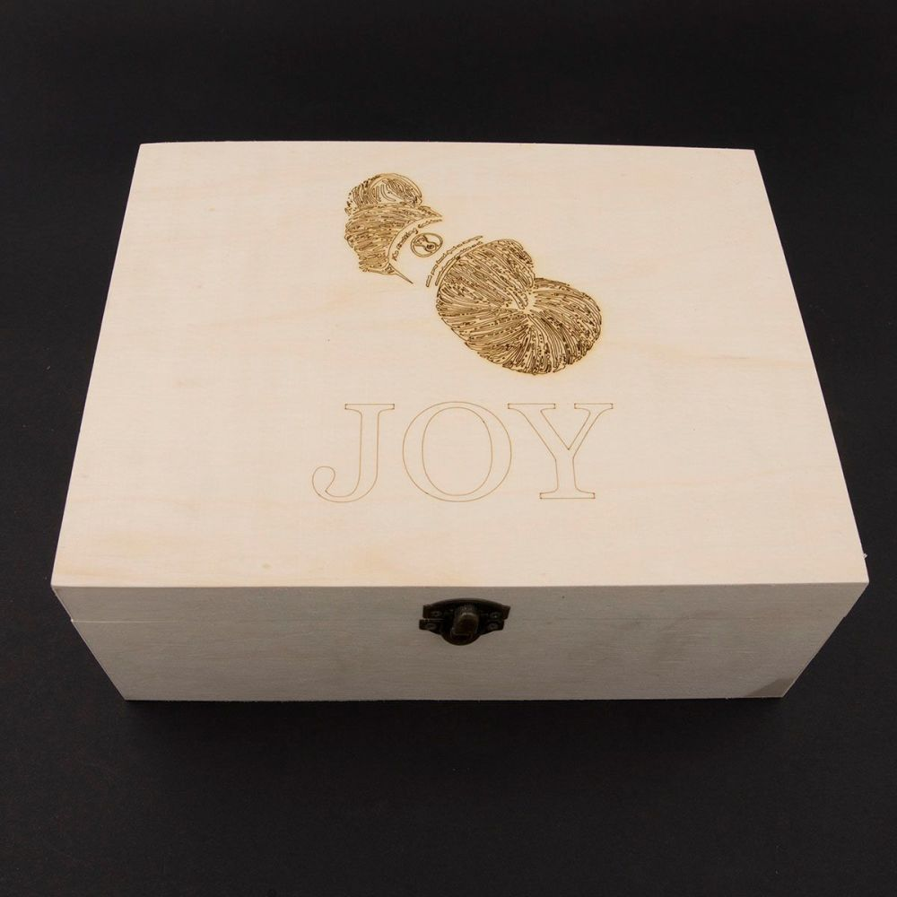 Wooden Box - Custom Name and Skein Design