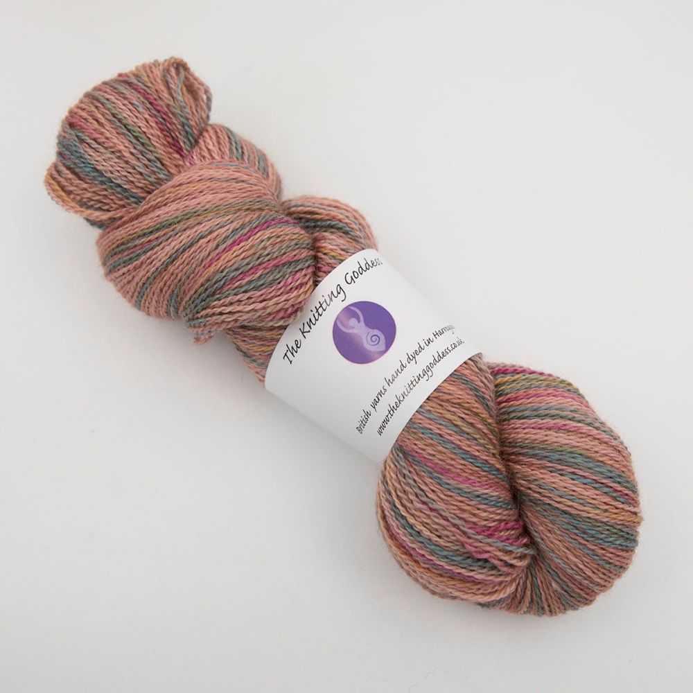 4ply BFL, silk and alpaca - Orange Rainbow Splodge