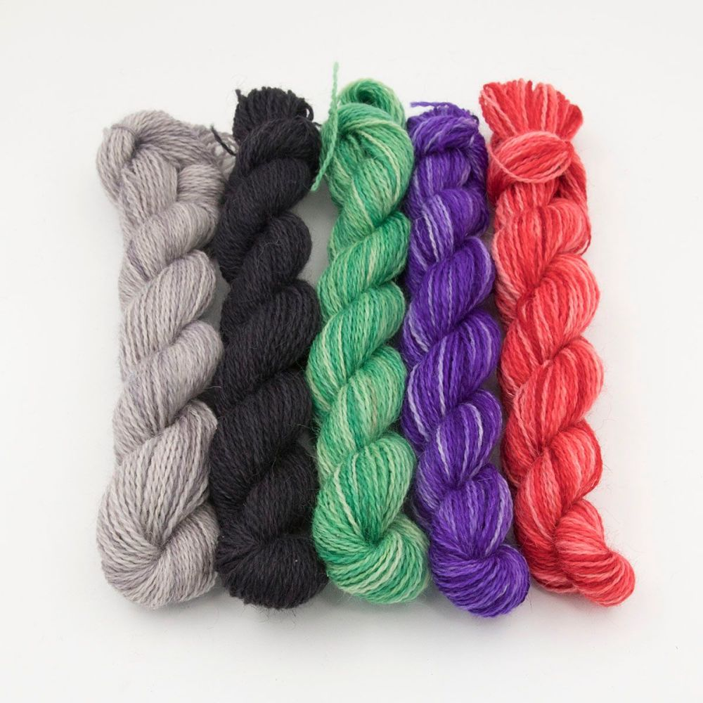 <!-- 010 -->One Farm Yarn - Frosty and Festive mini skeins