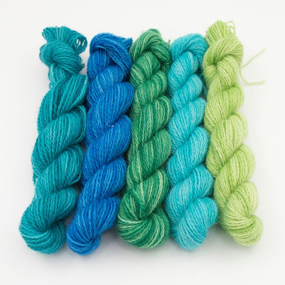 <!-- 010 -->One Farm Yarn - Ocean Depths mini skeins