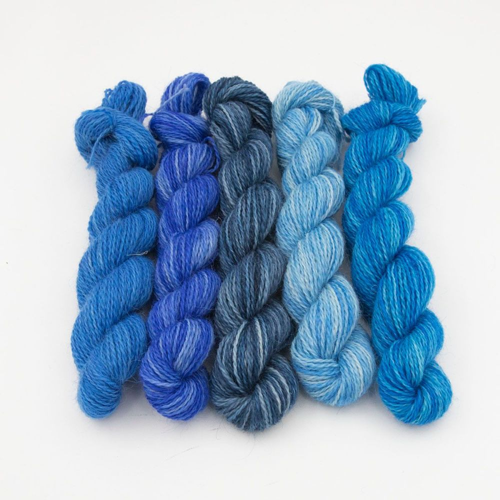 One Farm Yarn - The Blues Can Be Happy mini skeins
