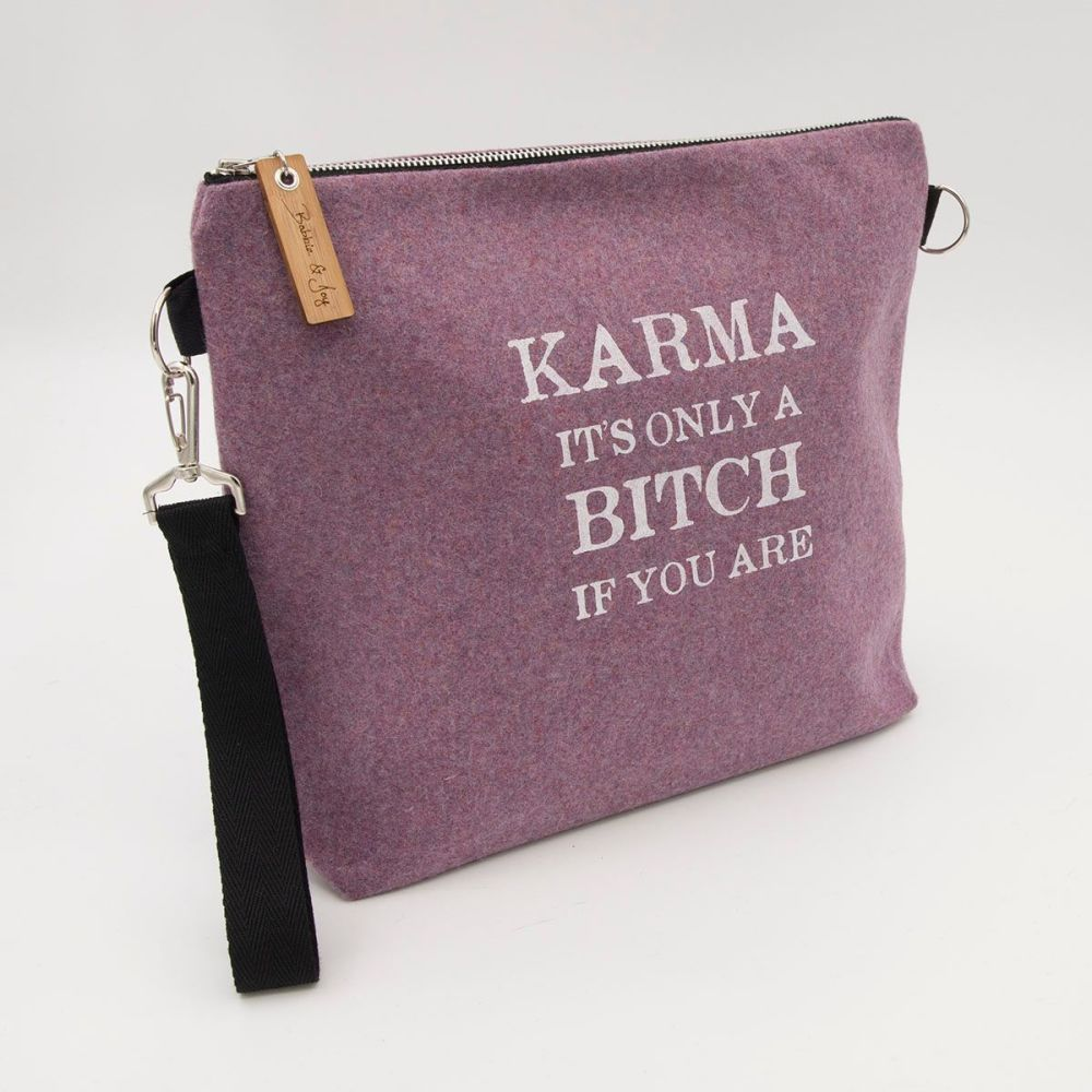 Karma Pale Pink Wool Felt Bag