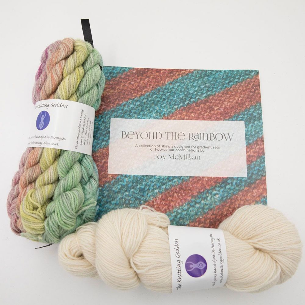 Beyond The Rainbow Pattern and Yarn Kit - Tones and Palest Cream
