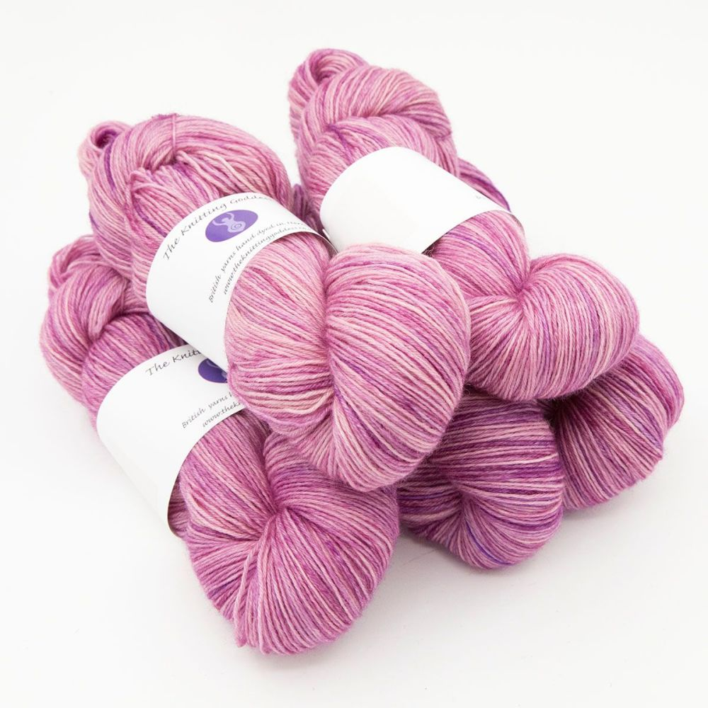 4ply BFL wool - Dusty Rose