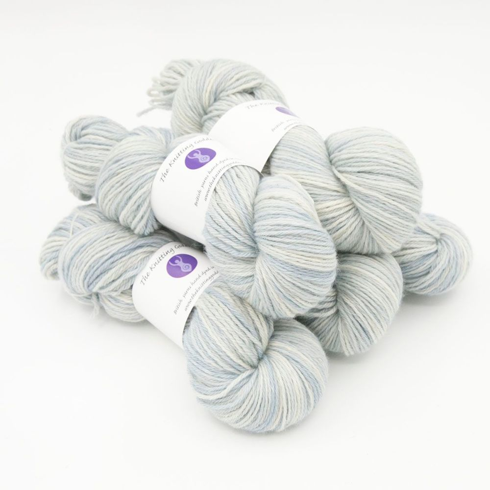frost hand dyed British wool DK weight BFL 5 skeins