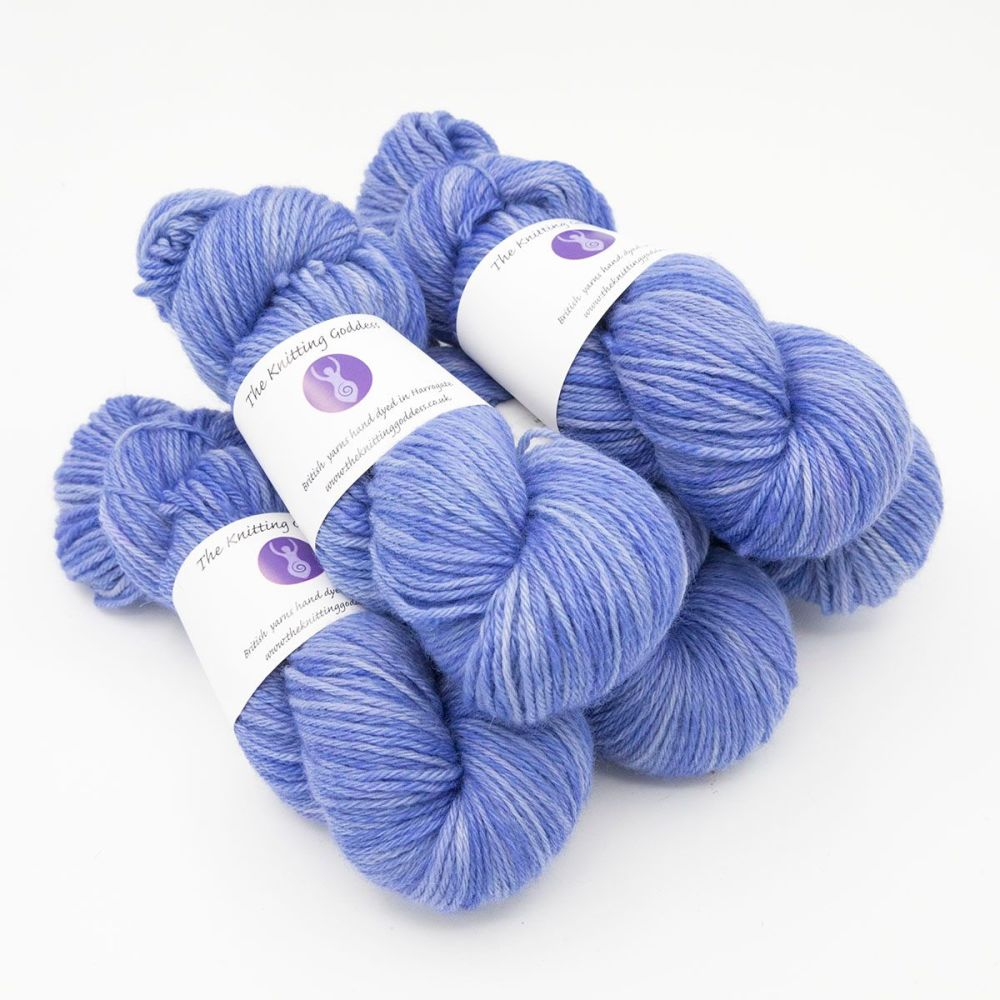 hyacinth hand dyed British wool DK weight BFL 5 skeins