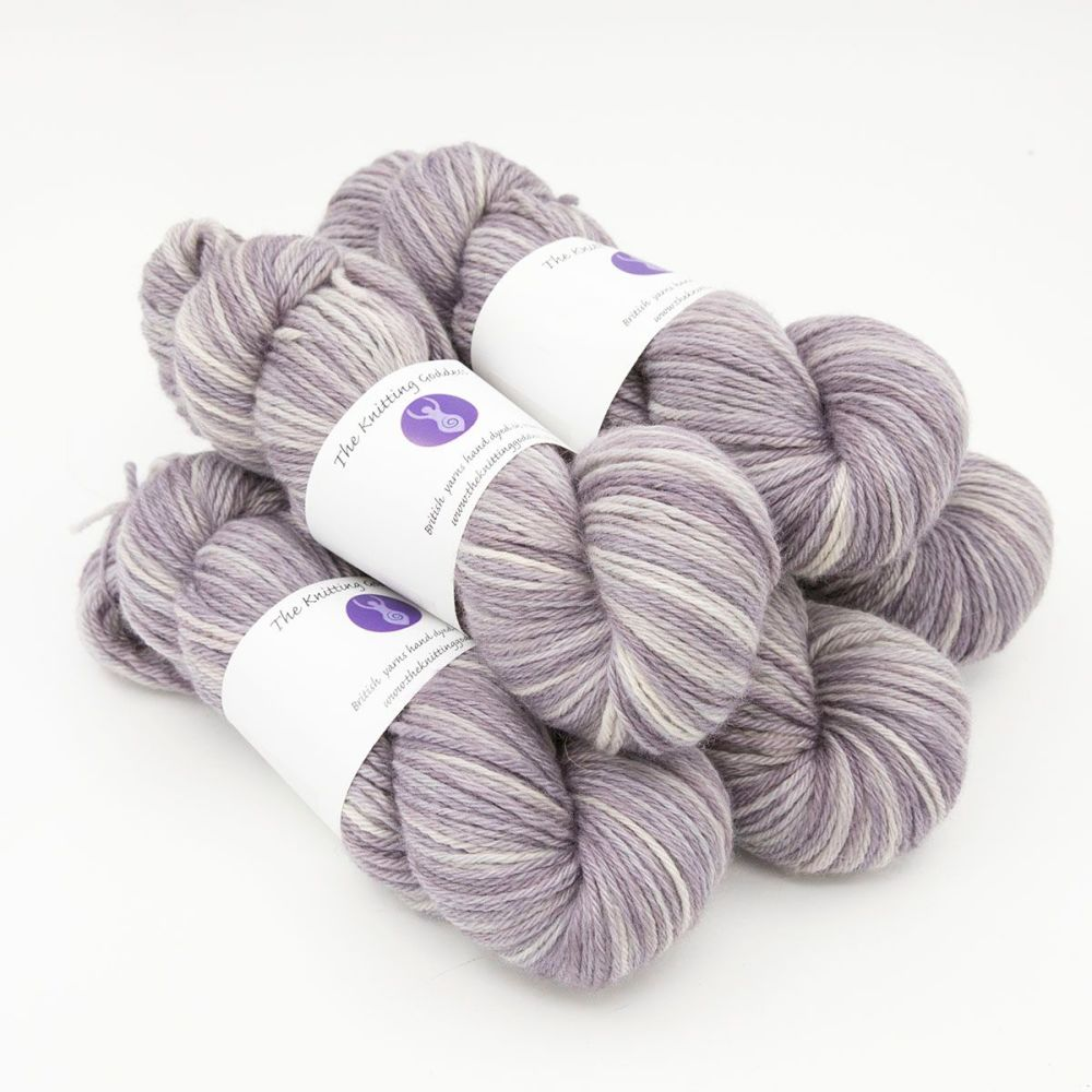 pearl hand dyed British wool DK weight BFL 5 skeins