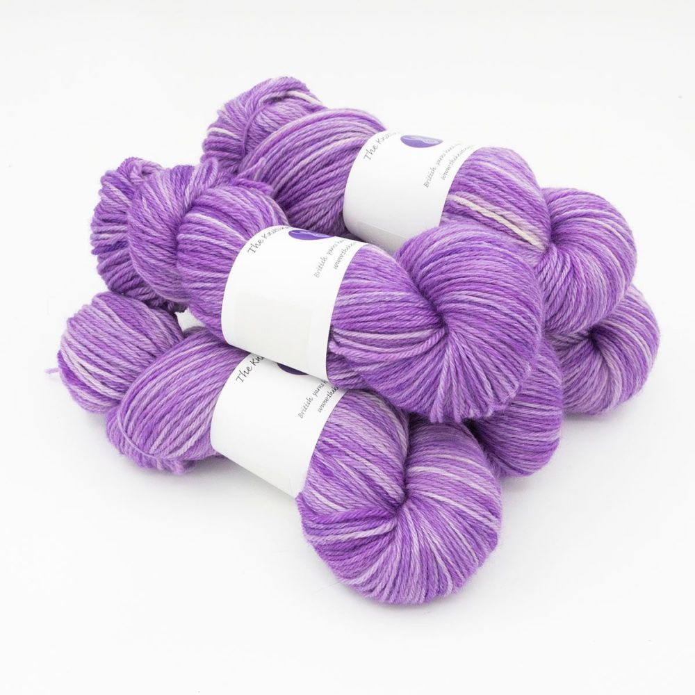 wisteria hand dyed British wool DK weight BFL 5 skeins
