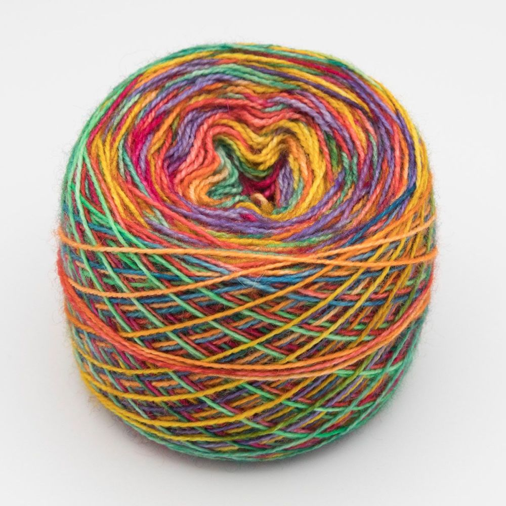Self striping Sock Yarn - Golden Rainbow
