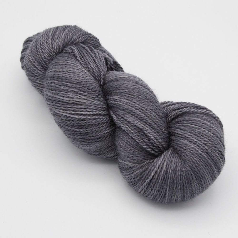 <!-- 002 -->4ply BFL, silk and alpaca - Anthracite
