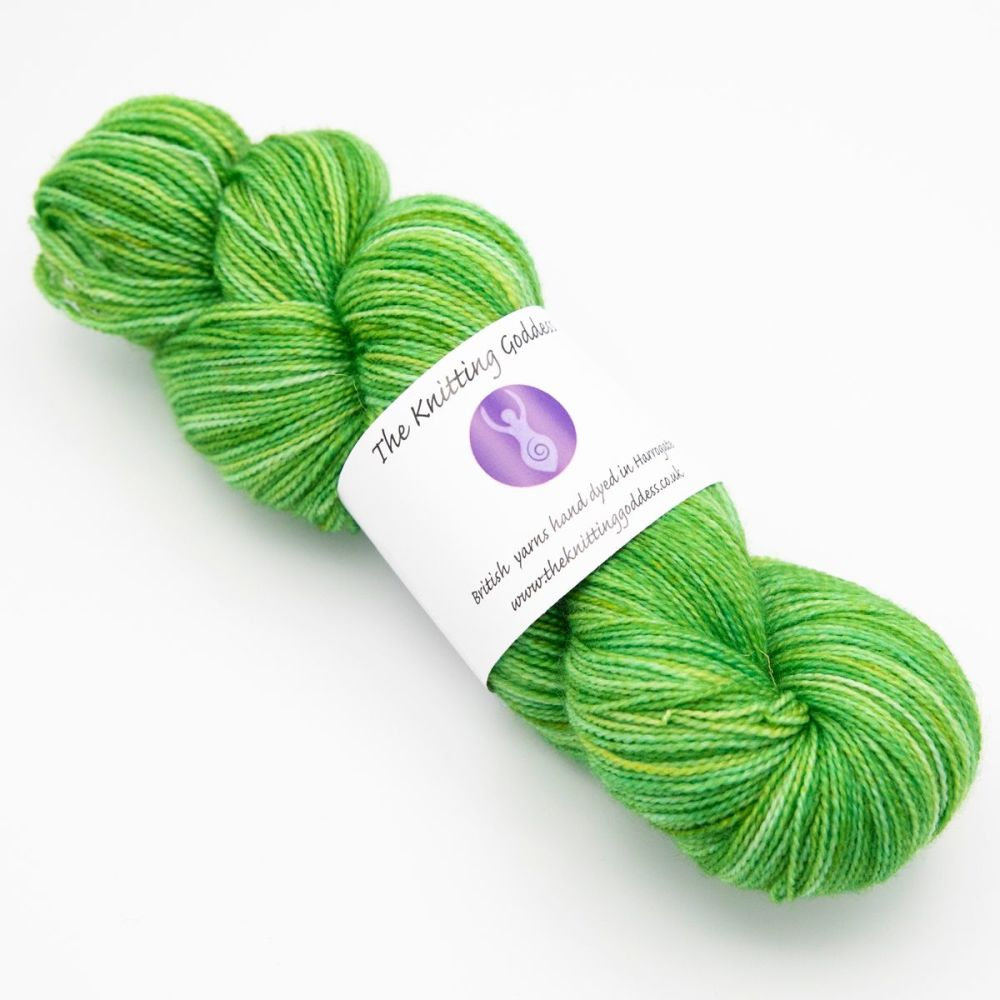 4ply BFL & Nylon - Green
