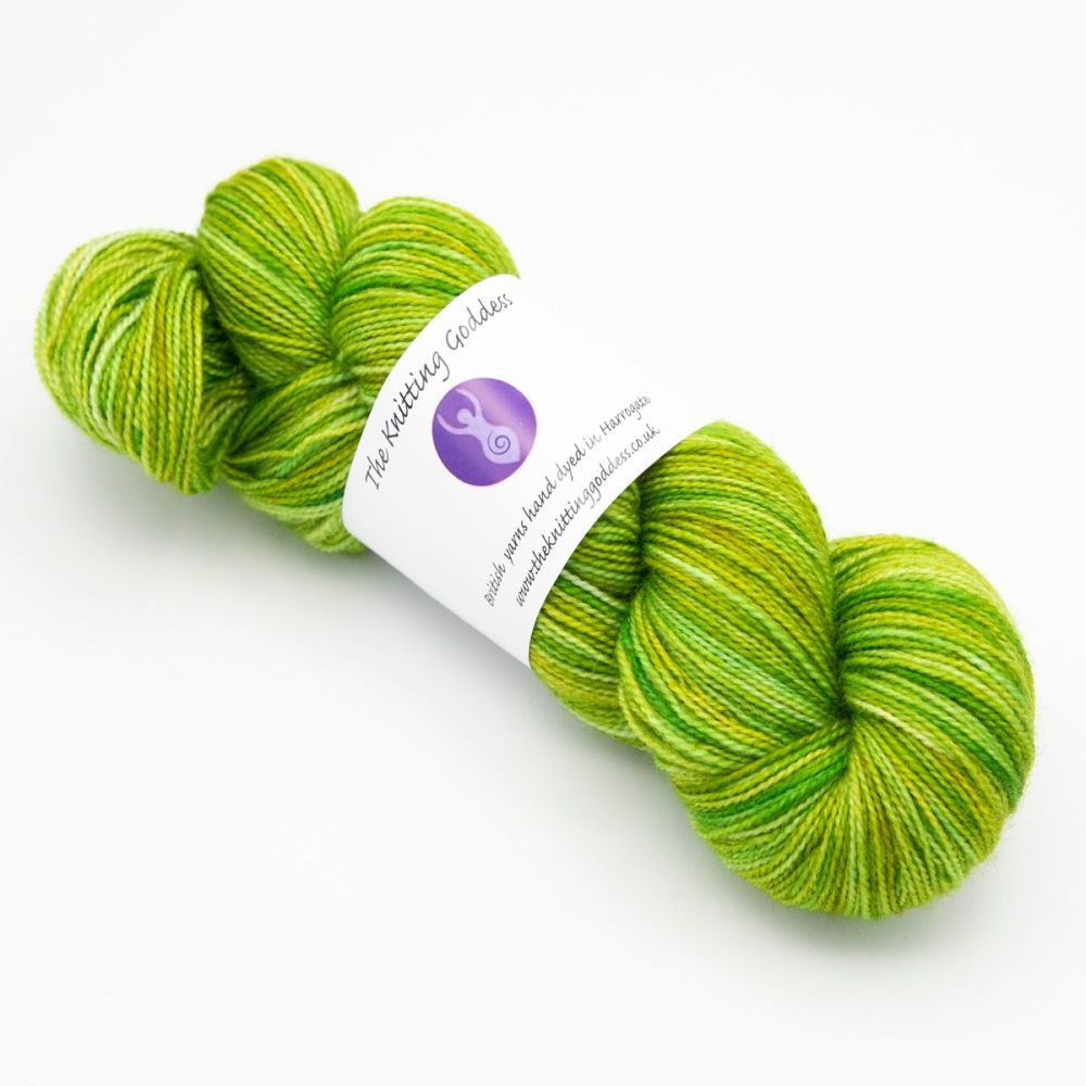 4ply BFL & Nylon - Lime