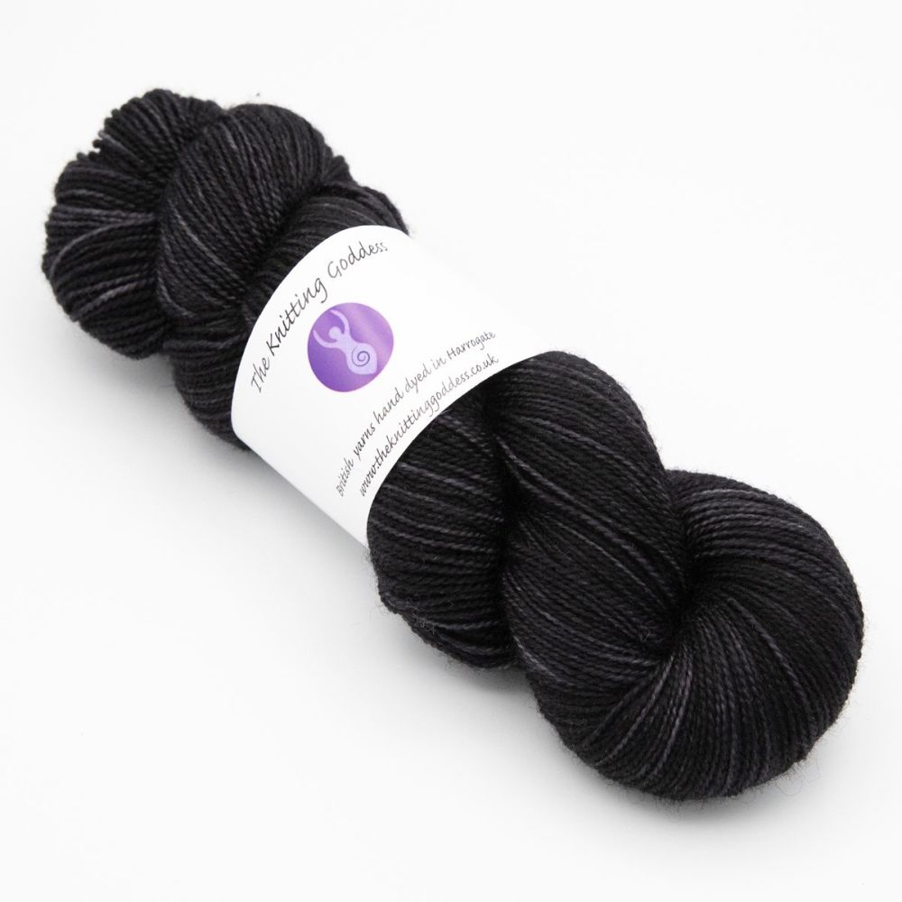 4ply BFL & Nylon - Coal