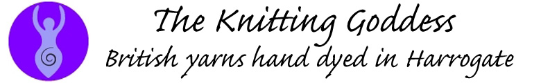 The Knitting Goddess, site logo.