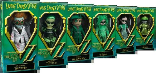 Living Dead Dolls in OZ VARIANTS Full Set of 6 Very Scarce Inc The Wizard