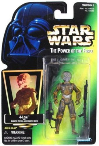 13 / KENNER /4-LOM  POWER OF THE FORCE , green  card H-G