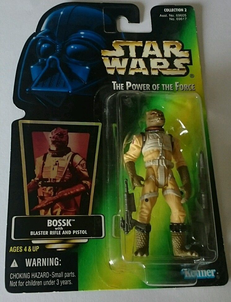 15/ KENNER  / BOSSK /THE POWER OF THE FORCE 2 / GREEN CARD   H/G