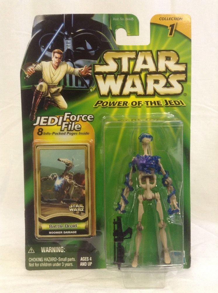 2 / HASBRO /  POWER OF THE JEDI  / BATTLE DROID BOOMER DAMAGE
