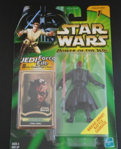 3 / HASBRO /  POWER OF THE JEDI  / DARTH MAUL / BATTLE DAMAGE