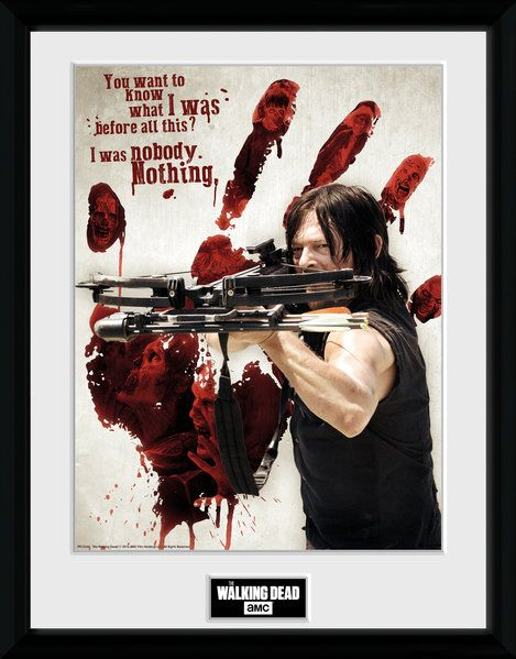 The Walking Dead Bloody Hand Daryl , 30 x 40 Collector Print