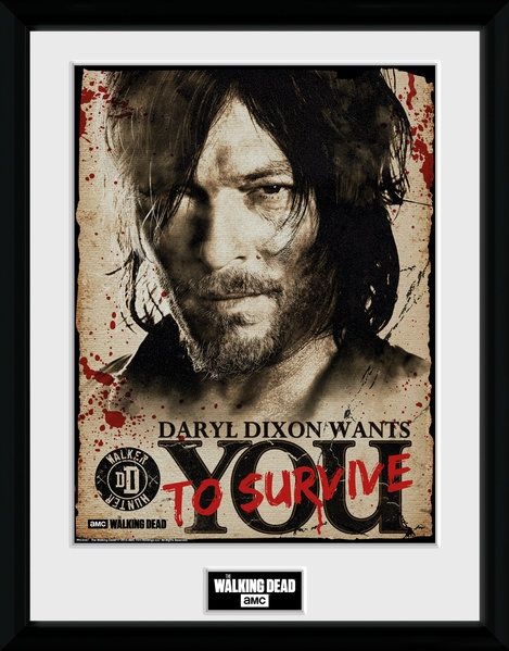 The Walking Dead , Daryl Needs You , 30 x 40 Collector Print