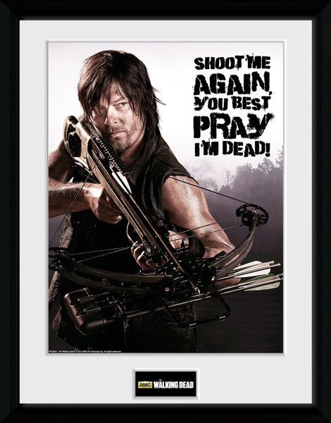 The Walking Dead , Daryl shoot me   , 30 x 40 Collector Print