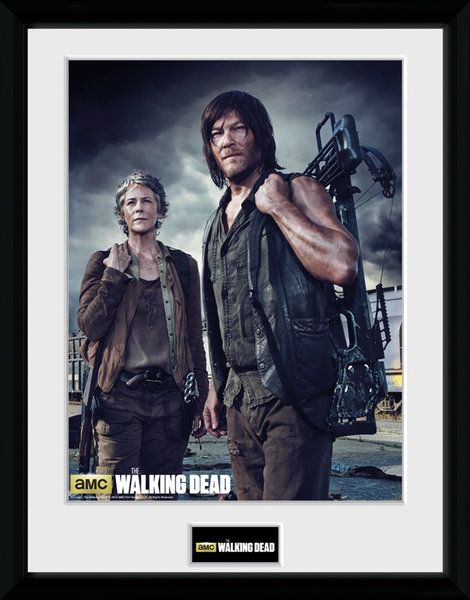 The Walking Dead , Carol and Daryl , 30 x 40 Collector Print