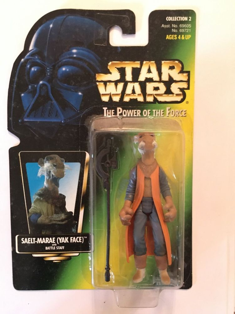 45A / KENNER /  YAK FACE   / GREEN CARD   / POWER OF THE FORCE 2