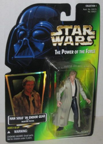 1A / KENNER GREEN CARD / H-G / HAN SOLO ( IN ENDOR GEAR )