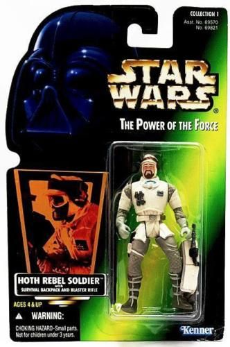 14/ KENNER / HOTH REBEL SOLDIER  / THE POWER OF THE FORCE 2 / GREEN CARD (H