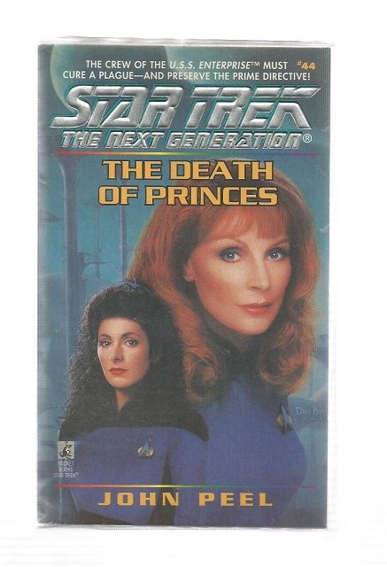 STAR TREK , THE NEXT GENERATON , THE DEATH OF PRINCES , PAPER BACK BOOK