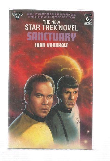 STAR TREK , SANCTUARY  , PAPER  BACK BOOK