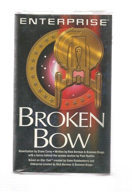 STAR TREK , ENTERPRISE , BROKEN BOW , PAPER  BACK BOOK