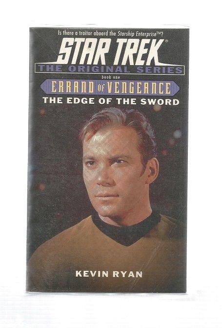 STAR TREK , THE EDGE OF THE SWORD , PAPER BACK BOOK