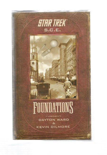 STAR TREK , S.C.E FOUNDATIONS , PAPER BACK BOOK