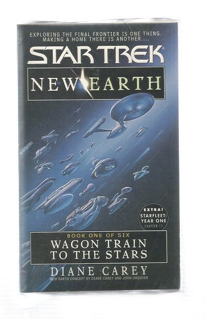 STAR TREK , NEW EARTH WAGON TRAIN TO THE STARS  , PAPER BACK BOOK