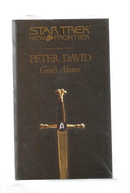 STAR TREK , NEW FRONTIER ,  GODS ABOVE , PAPER BACK BOOK