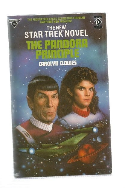 STAR TREK , THE PANDORA PRINCIPLE  , PAPER BACK BOOK
