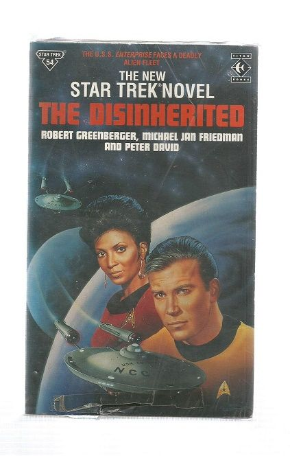 STAR TREK , THE DISINHERITED  , PAPER BACK BOOK